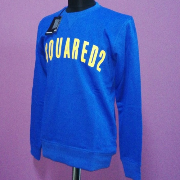 DSQUARED Other - Dsquared2 Navy Yellow Written Men Casual Sweat